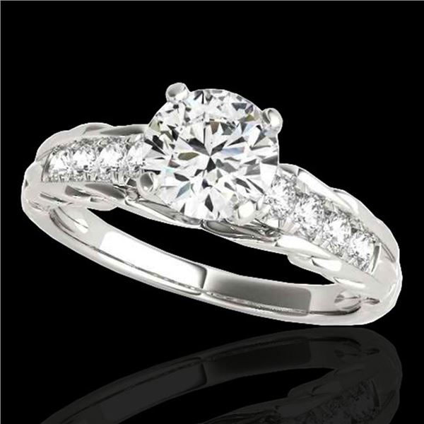 1.2 ctw Certified Diamond Solitaire Ring 10k White Gold - REF-197W8H