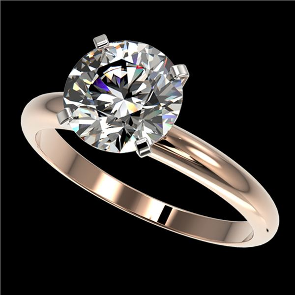 2.50 ctw Certified Quality Diamond Engagment Ring 10k Rose Gold - REF-606G4W