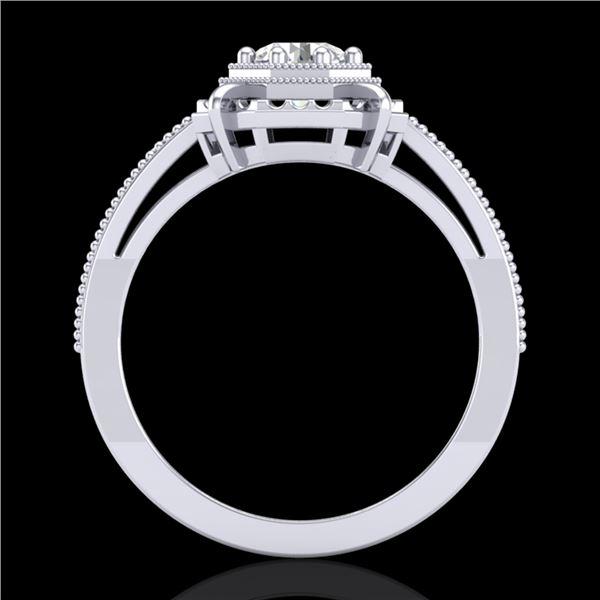 0.53 ctw VS/SI Diamond Art Deco Ring 18k White Gold - REF-136G4W