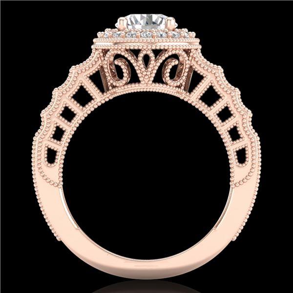 1.53 ctw VS/SI Diamond Solitaire Art Deco Ring 18k Rose Gold - REF-454X5A