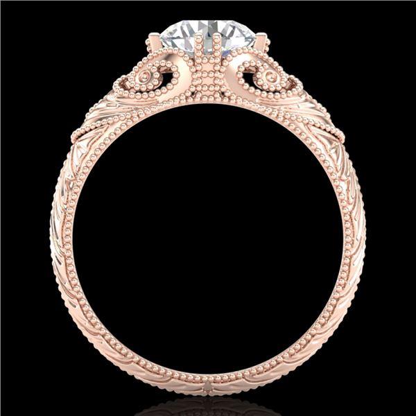1 ctw VS/SI Diamond Solitaire Art Deco Ring 18k Rose Gold - REF-315K2Y