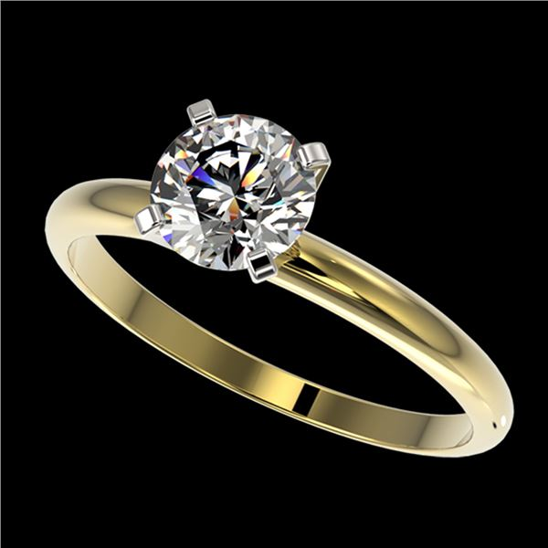 1 ctw Certified Quality Diamond Engagment Ring 10k Yellow Gold - REF-124G4W