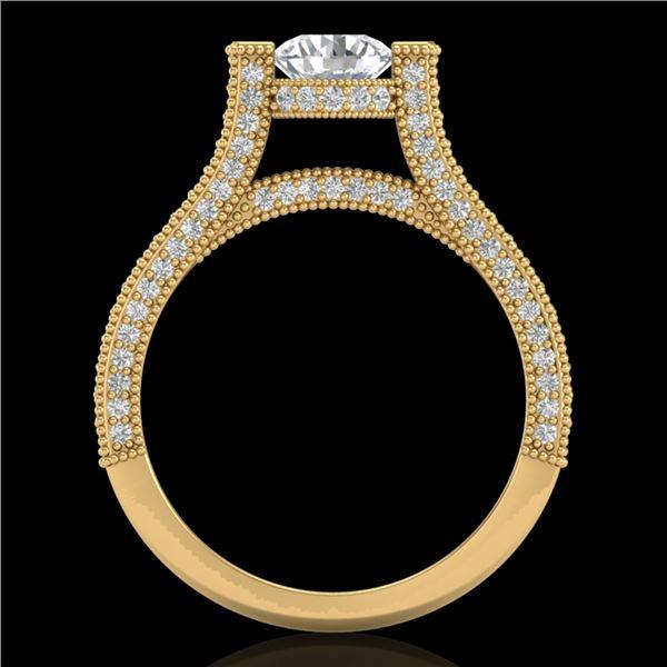 2 ctw VS/SI Diamond Micro Pave Ring 18k Yellow Gold - REF-290H9R