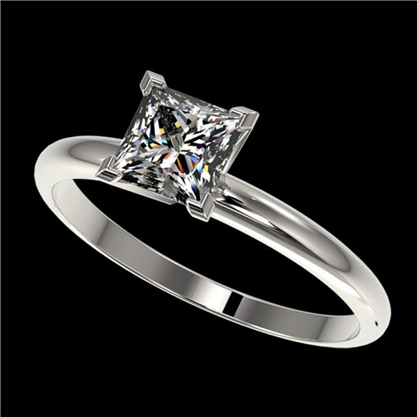 1 ctw VS/SI Quality Princess Diamond Engagment Ring 10k White Gold - REF-243Y2X