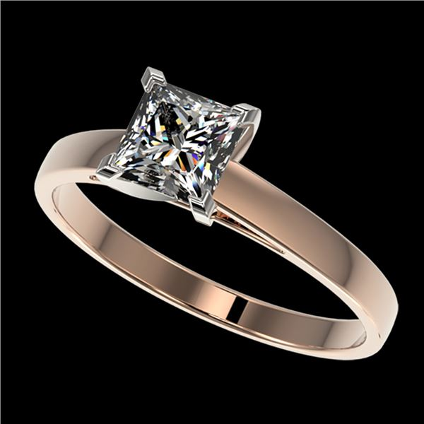 1 ctw VS/SI Quality Princess Diamond Engagment Ring 10k Rose Gold - REF-243H2R