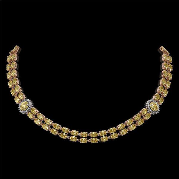 31.4 ctw Citrine & Diamond Necklace 14K Rose Gold - REF-454G5W
