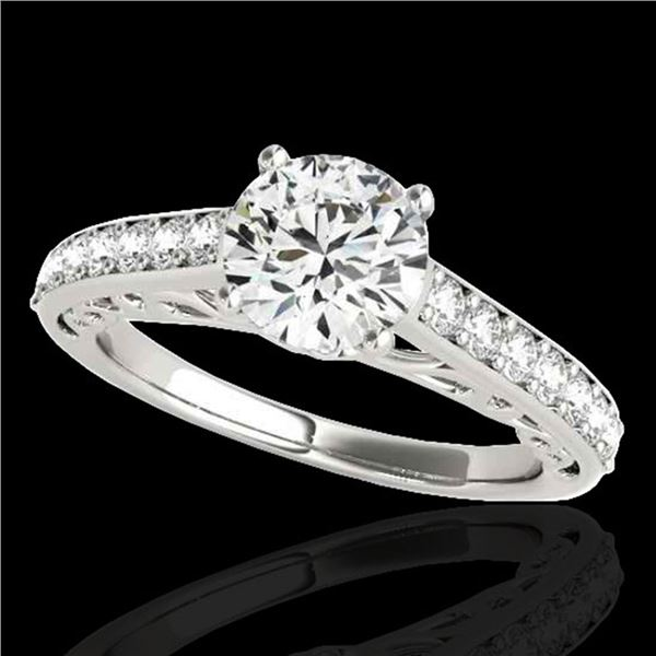 1.65 ctw Certified Diamond Solitaire Ring 10k White Gold - REF-245H5R