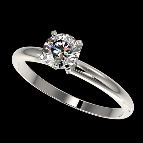 0.78 ctw Certified Quality Diamond Engagment Ring 10k White Gold - REF-68W2H