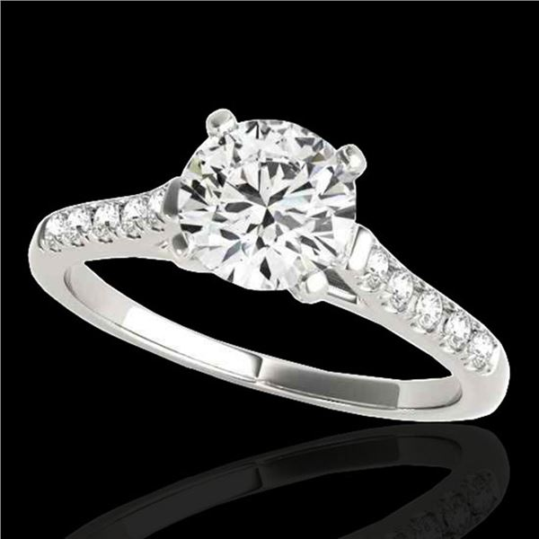 1.2 ctw Certified Diamond Solitaire Ring 10k White Gold - REF-190Y9X