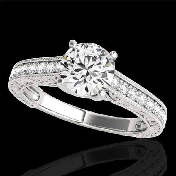 1.32 ctw Certified Diamond Solitaire Ring 10k White Gold - REF-184W3H