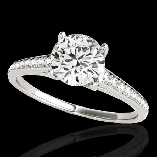 1.5 ctw Certified Diamond Solitaire Ring 10k White Gold - REF-190A9N
