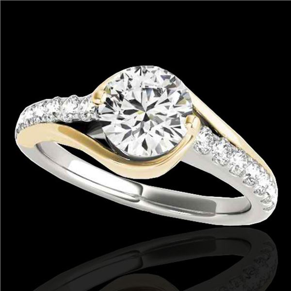 1.25 ctw Certified Diamond Solitaire Ring 10k 2Tone Gold - REF-197X8A