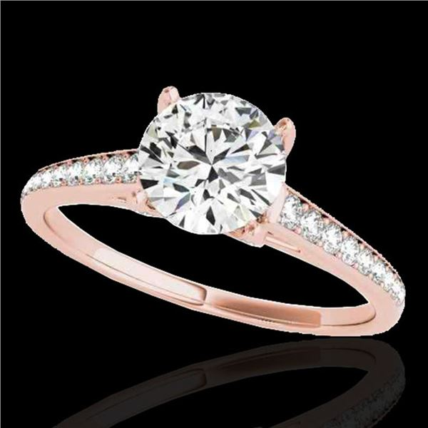 1.5 ctw Certified Diamond Solitaire Ring 10k Rose Gold - REF-190F9M