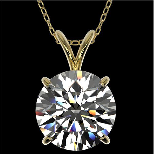 2.53 ctw Certified Quality Diamond Necklace 10k Yellow Gold - REF-658W6H
