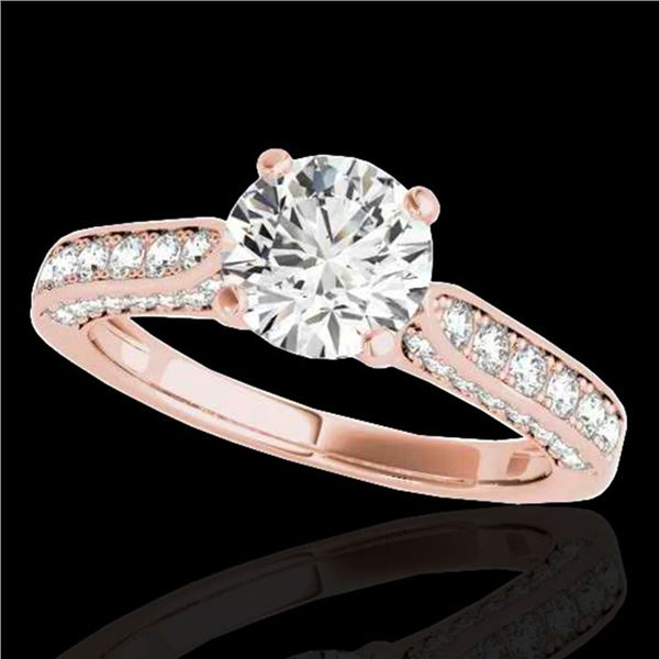 1.6 ctw Certified Diamond Solitaire Ring 10k Rose Gold - REF-197H8R
