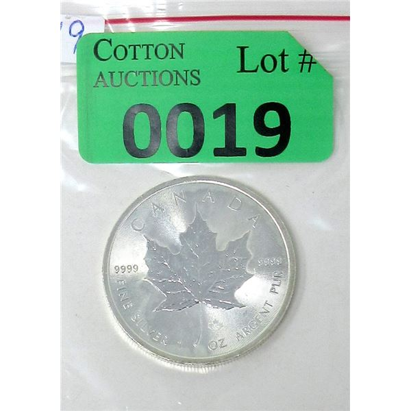 1 Oz .9999 Fine Silver 2014 Canada Maple Leaf Coin