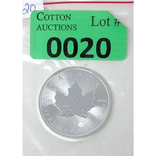 1 Oz .9999 Fine Silver 2020 Canada Maple Leaf Coin