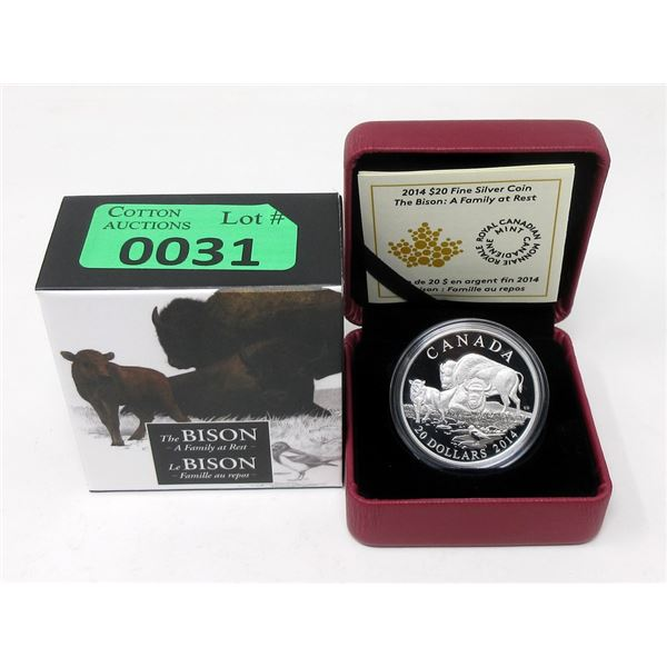 2014 Canada.9999 Silver $20Coin