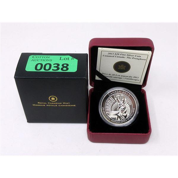 2013 Canada .9999 Silver 31.60 Gram$20 Coin