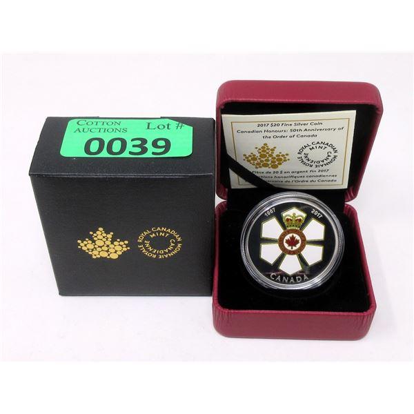 2017 Canada 31.83 Grams .9999 Silver $20 Coin