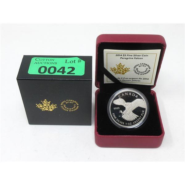 2014 Canada .9999 Silver Peregrine Falcon Coin
