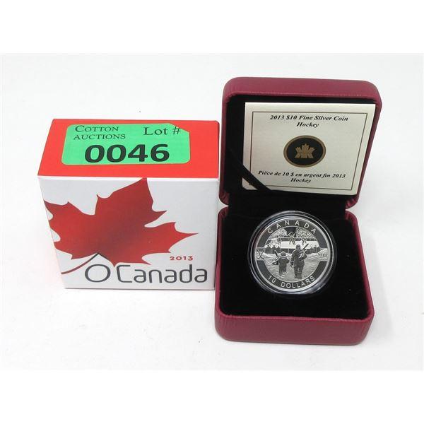 "2013 Canada .9999 Silver $10Coin ""Hockey"""
