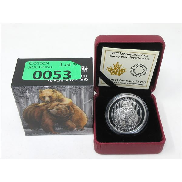2015 Canada .9999 Silver $20 Coin