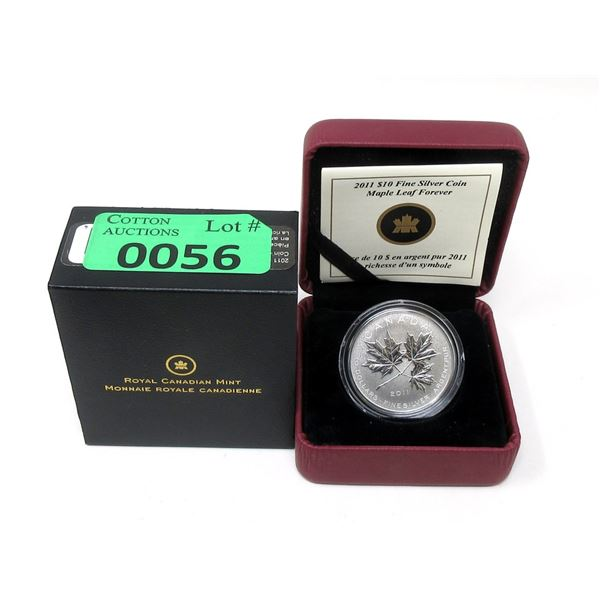 """Canada """"Maple Leaf Forever"""" .9999 Silver Coin"""