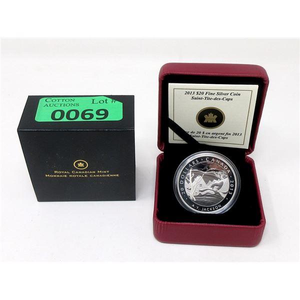2013 Canada .9999 Silver 31.39 Gram $20 Coin