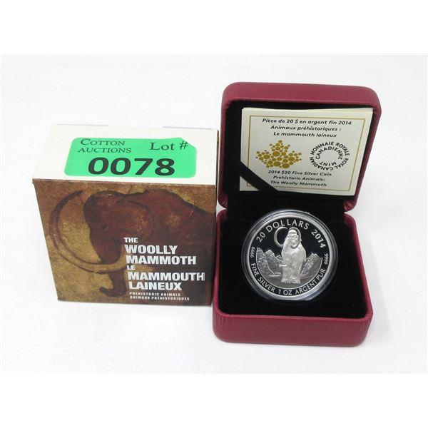 2014 Canada 31.39 Grams.9999 Silver $20 Coin