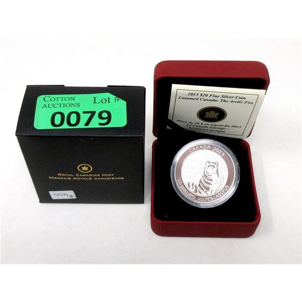 2013$20 Canada .9999 Silver 28.02 Gram Coin