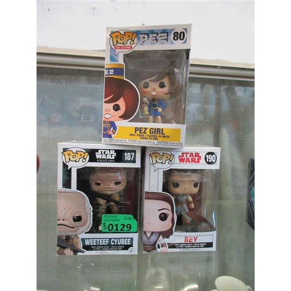 Funko Pop Star Wars & Pez Figurines with Boxes