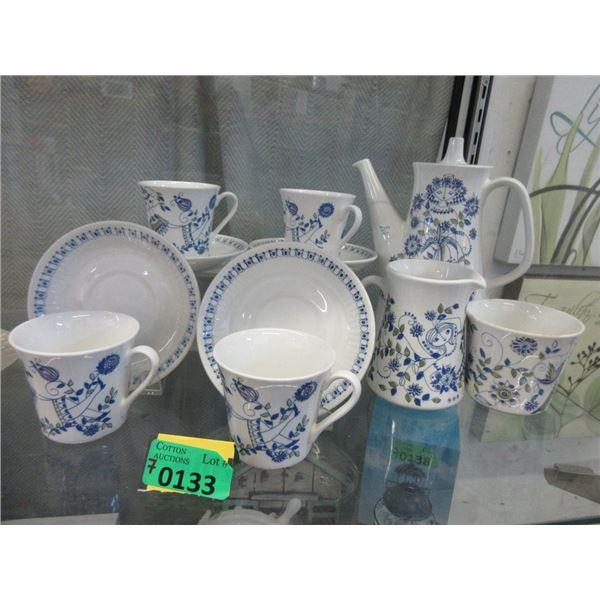 1970s Norway Figgjo Lotte Tea Set