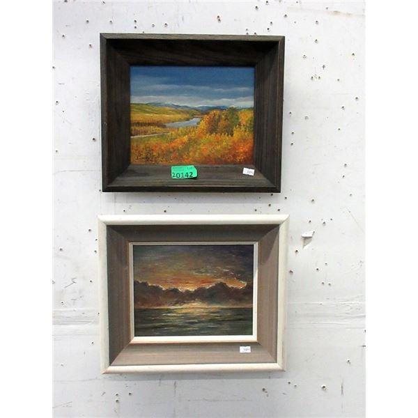 2 Framed Original Oil Paintings