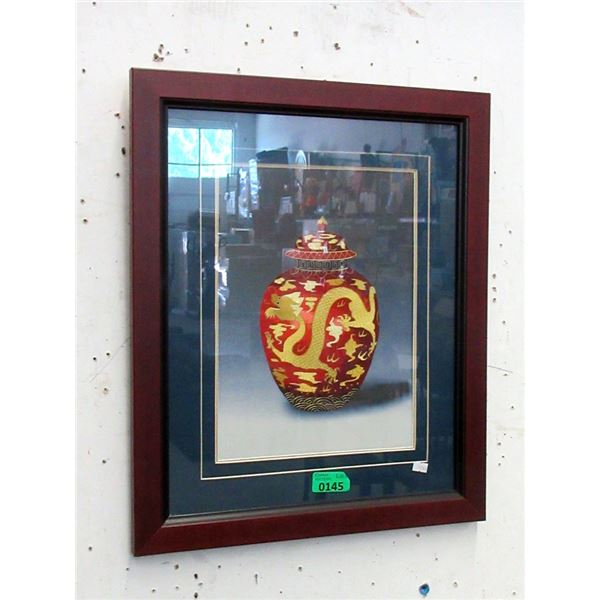 New Embroidered Picture of Asian Vase