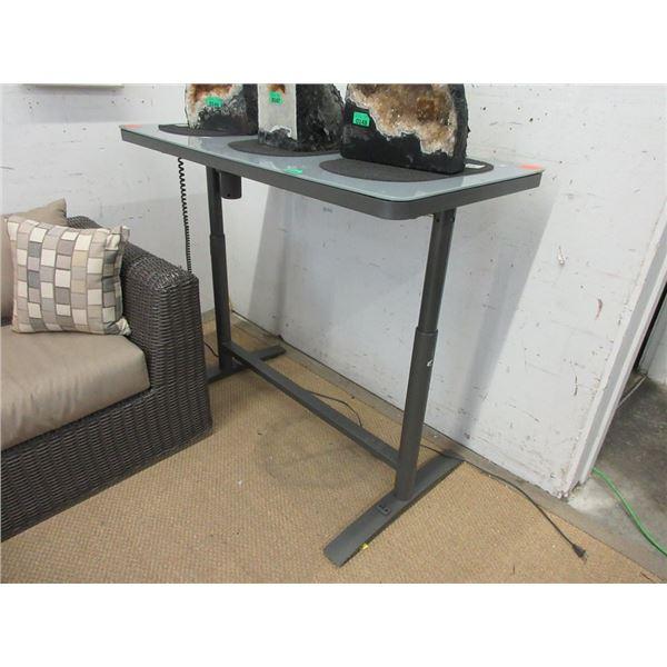 Glass Top Sit/Stand Desk - Store Return