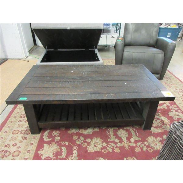 """Wood Espresso Coffee Table - 28"""" x 52"""" x 16"""" tall"""
