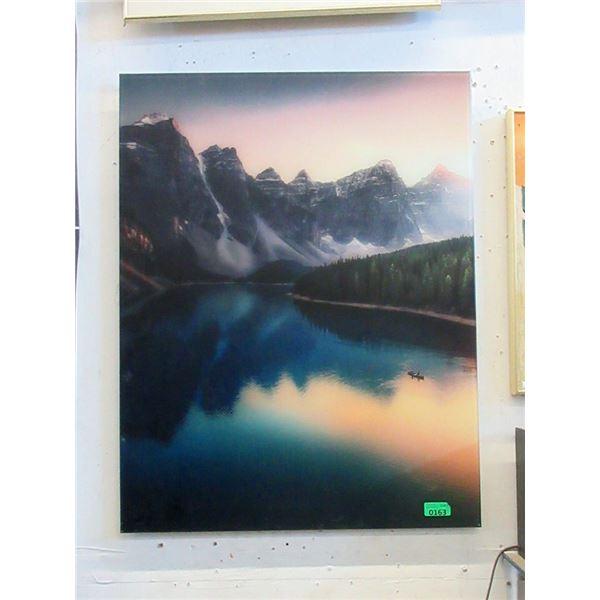 """Large Acrylic Wall Art of Lake - 28"""" x 35"""""""