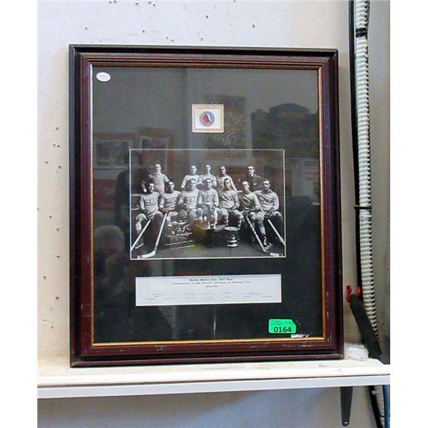 Framed Quebec Bulldogs Memorabilia