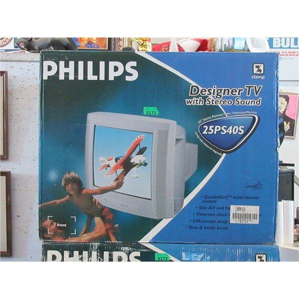 "Philips 25"" Stereo Remote TV / Monitor"