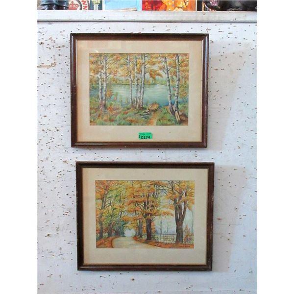 1962 and 1963 Tom Hulme Original Watercolour
