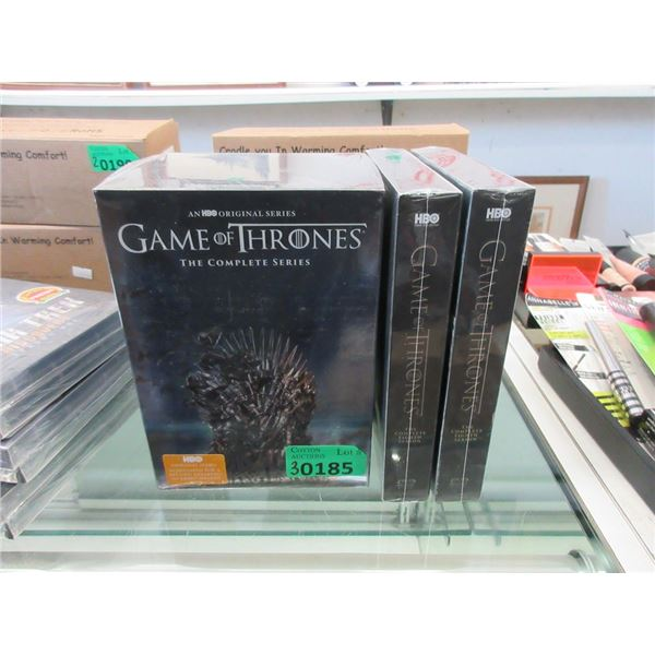 New Game of Thrones Complete DVD Set & More