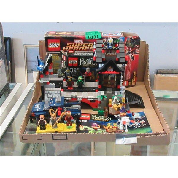 3 LEGO Sets with 10 Mini Figurines