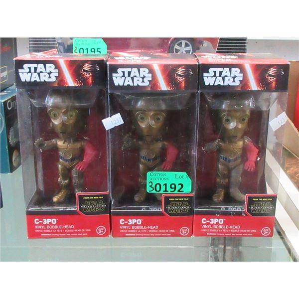 3 Star Wars C-3PO Vinyl Bobble-Heads