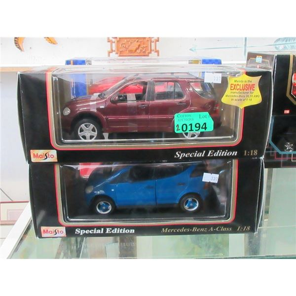 2 Maisto Special Edition Die Cast Cars- 1:18 Scale
