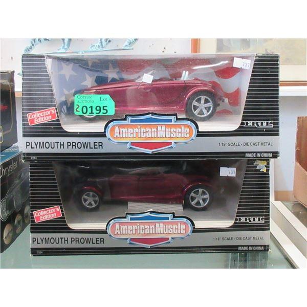 2 ERTL American Muscle Die Cast Cars - 1:18 Scale