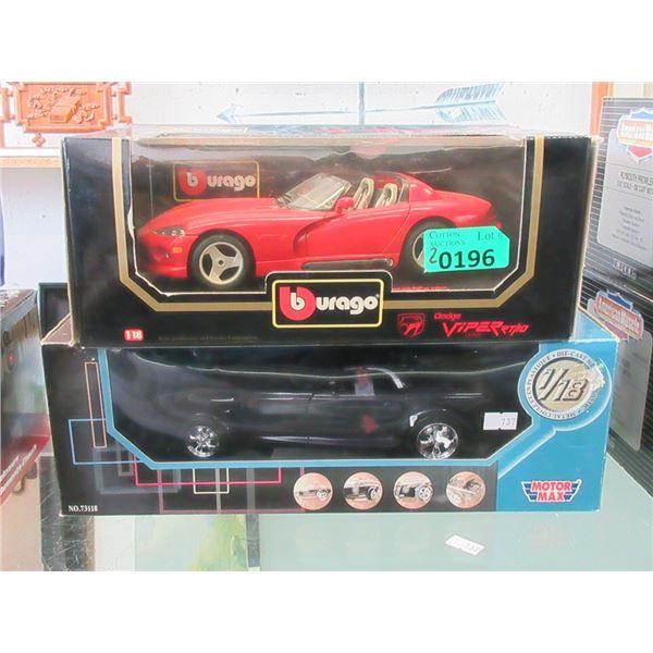 1 Burago & 1 Motor Max Die Cast Cars - 1:18 Scale