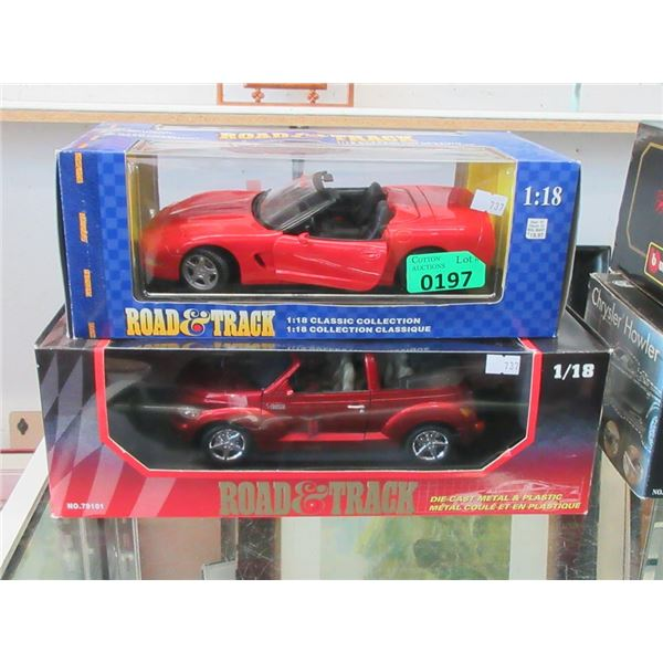 2 Road and Track Die Cast Cars - 1:18 Scale