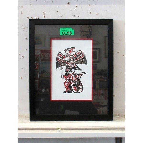Richard Shorty Framed Print - Crow, Wolf Totem