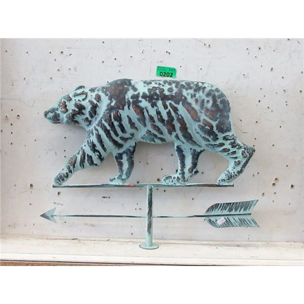 Painted Copper Grizzly Weather Vane